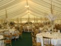 Marquee set up for Christmas Wedding Reception