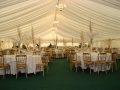 Marquee layout for Christmas Wedding