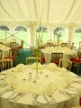 Lunch event in marquee